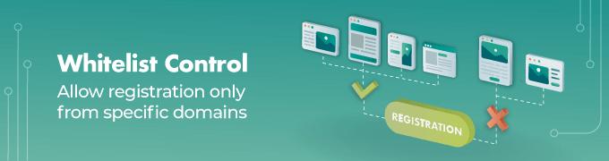 Whitelist-Control - Email Domain Blacklist WordPress plugin