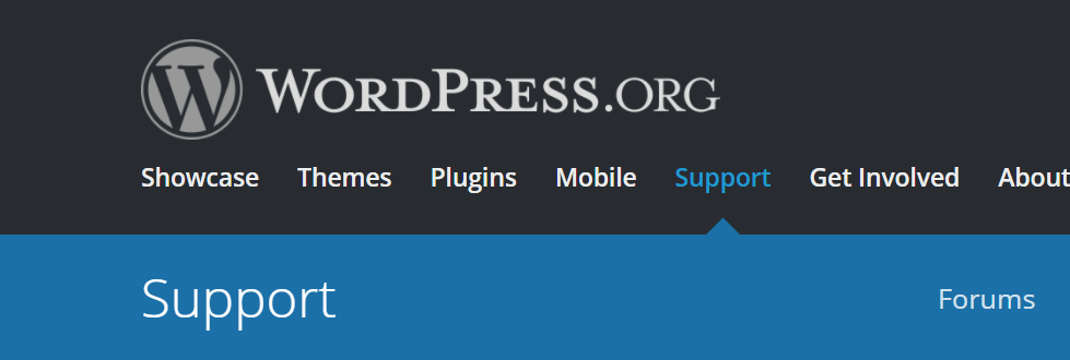 Image of a WordPress support page used to gather information to find the best WordPress plugins