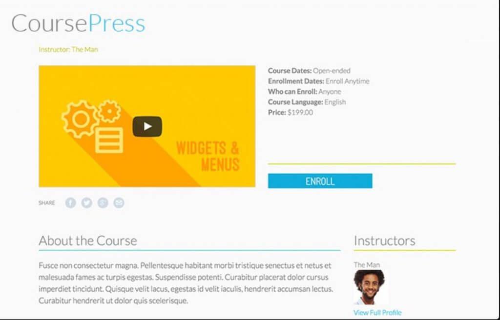 CoursePress screenshot - 10 WordPress Plugins for eLearning in 2020