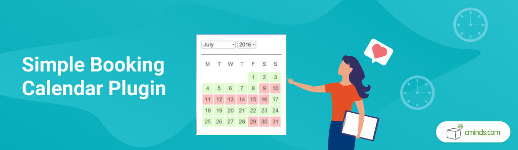 WP Simple Booking Calendar - 5 Best Calendar Booking Plugins for WordPress - Creative Minds blog