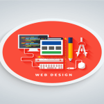 Creative illustration of Web Designing