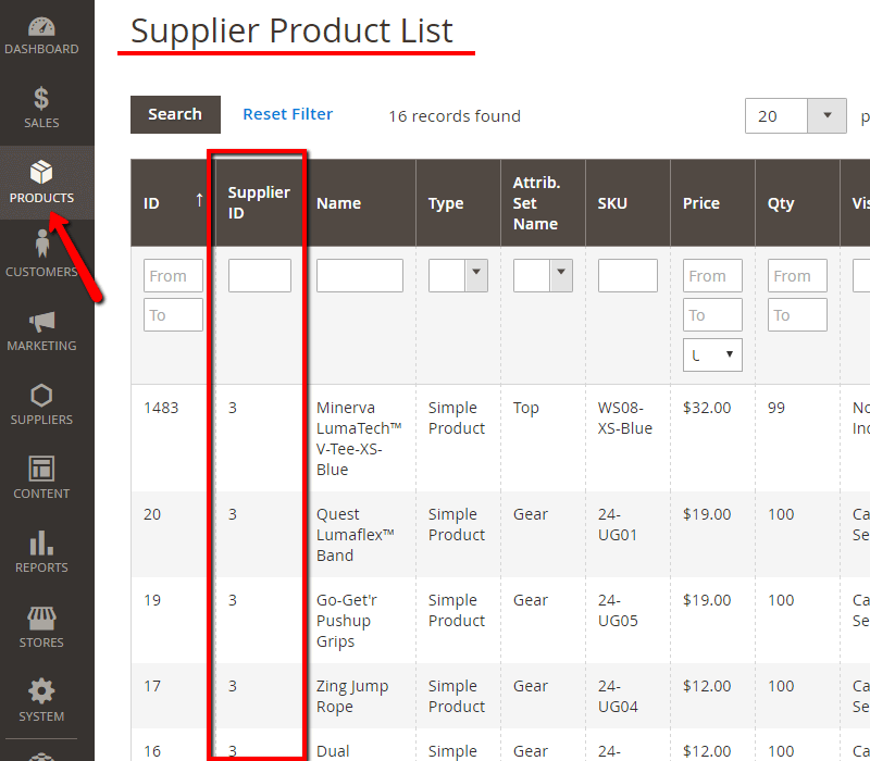 Manage Suppliers - approval system