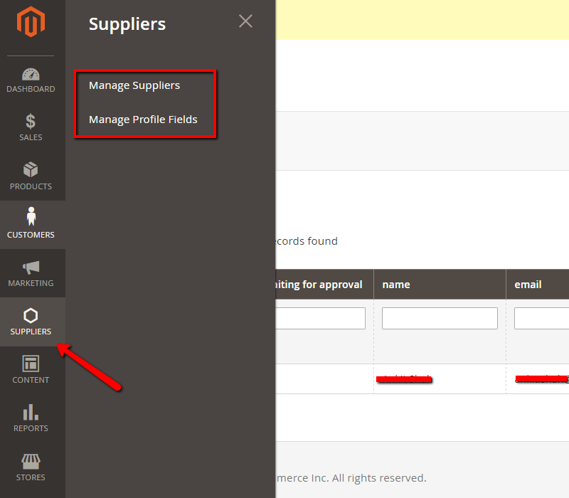 Manage Suppliers - vendor verification