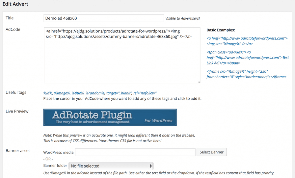 AdRotate screenshot - 10 Best Ad Management WordPress Plugins