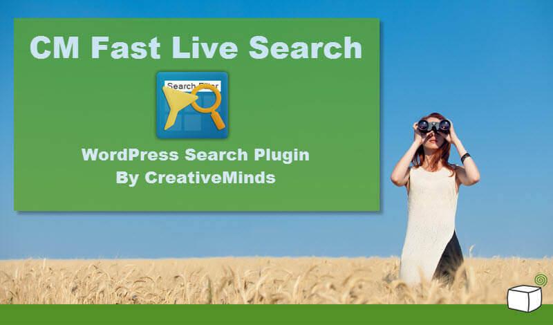 cm fast live search plugin- CM WordPress toolkit
