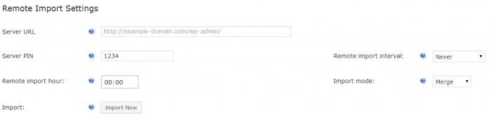 WordPress Glossary Import settings