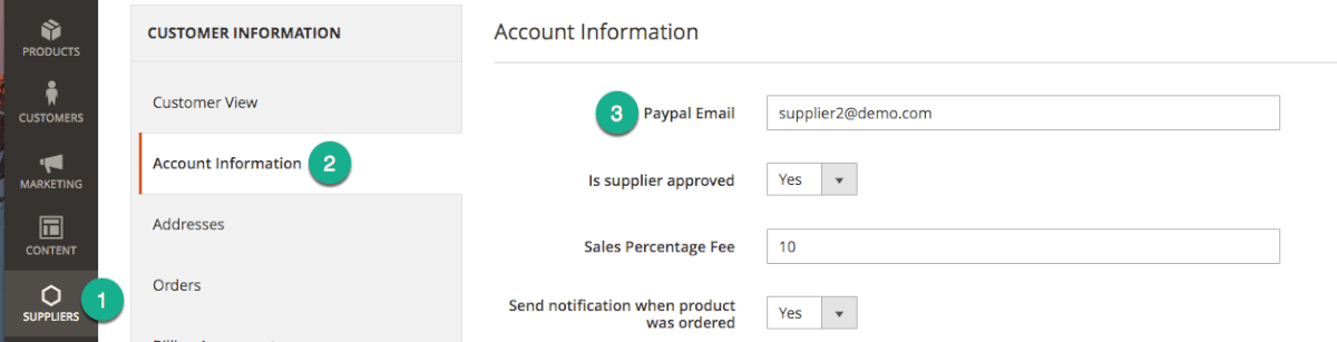 Connecting Supplier PayPal Accounts