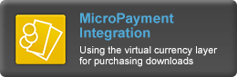 MicroPayment integration - Using the virtual currency layer for purchasing downloads