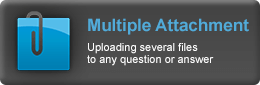 Online demo of Multiple Attachment - Uploading several files to any question or answer