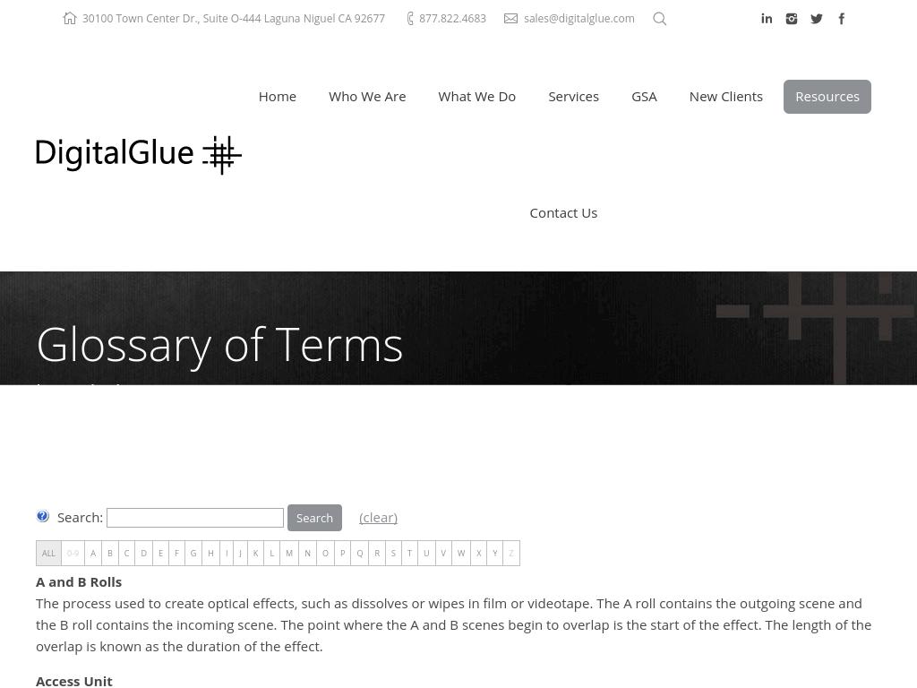 Digital Glue Glossary