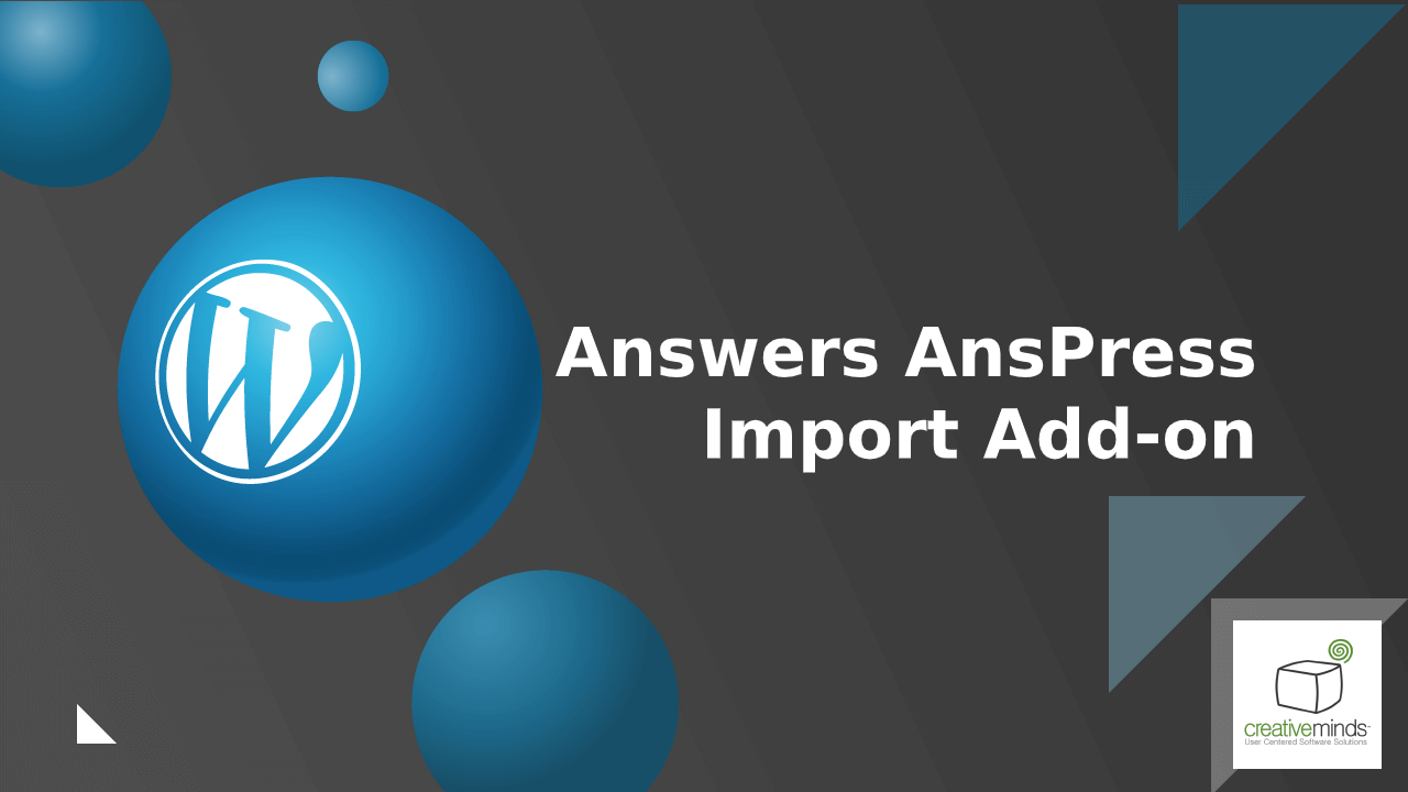 Answers Anspress Import AddOn for WordPress by CreativeMinds video placeholder