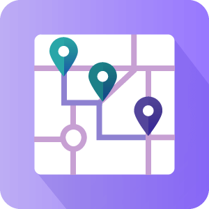 Routes Manager icon - Micro GIS Solution - CreativeMinds