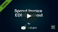 Sprout Invoice EDD Checkout Plugin for WordPress by CreativeMinds Video