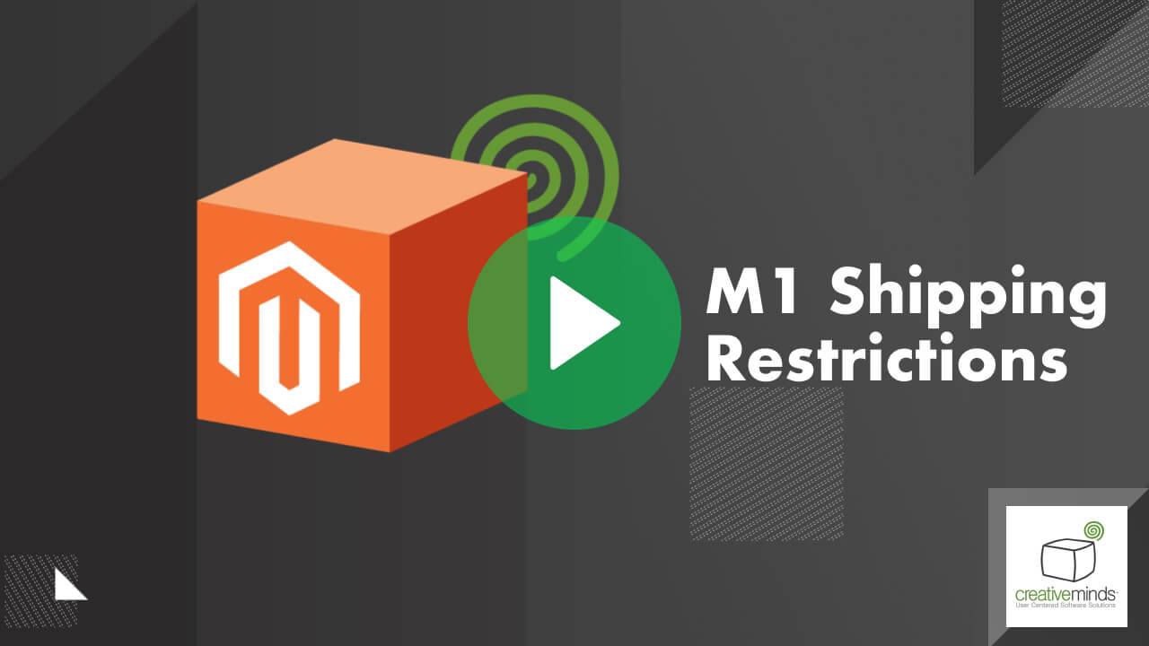 Shipping Restrictions Extension for Magento® by CreativeMinds video placeholder