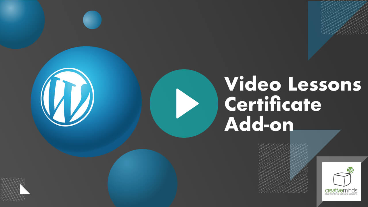 CM Video Lessons Manager Certificate Add-on for WordPress by CreativeMinds video placeholder