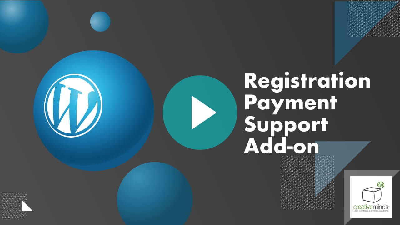 Registration Payment Support Addon for WordPress video placeholder
