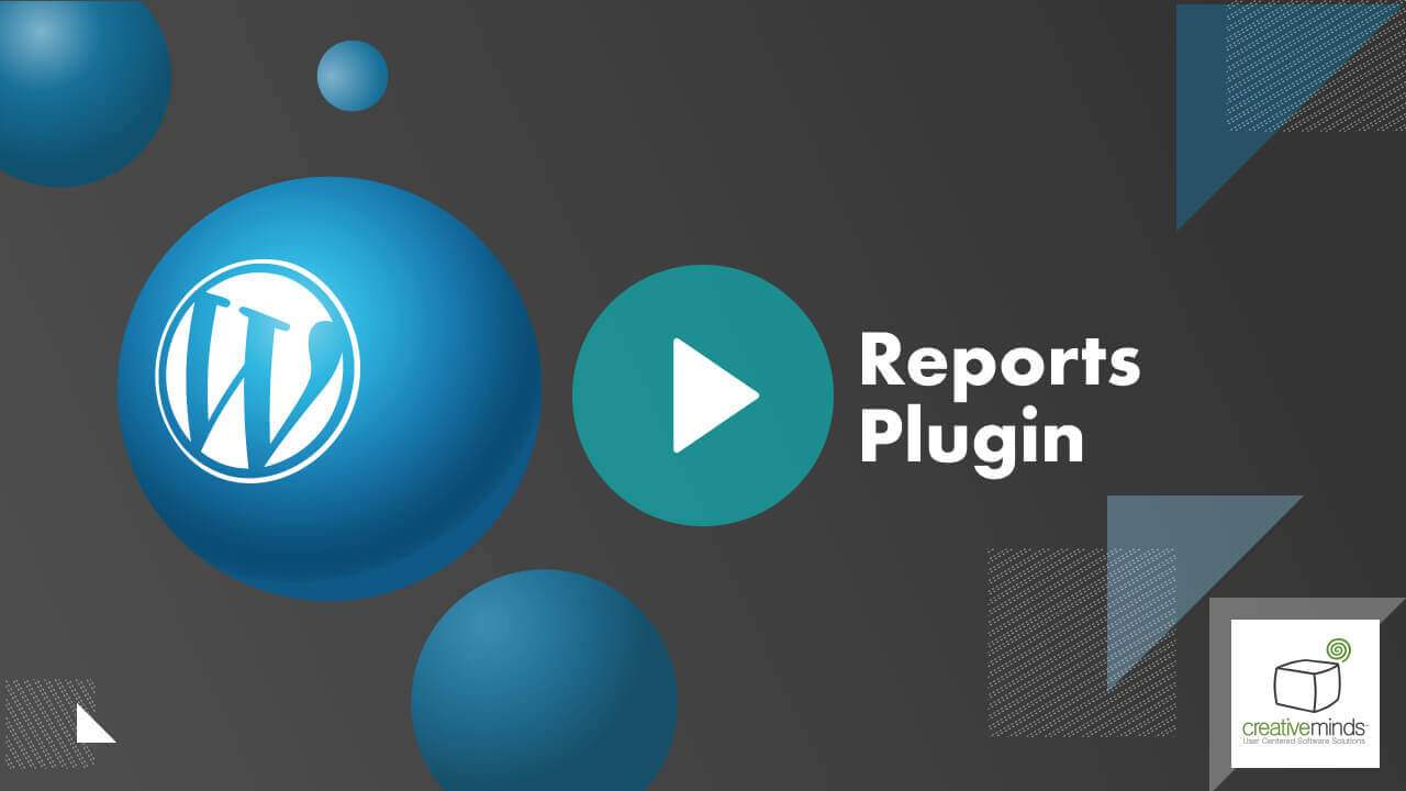 Custom Reports Plugin for WordPress by CreativeMinds video placeholder
