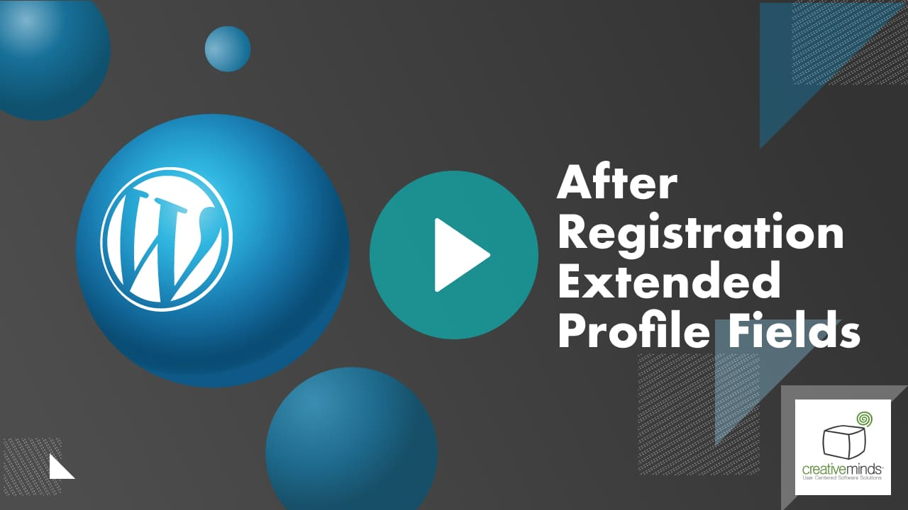 After Registration Extended Profile Fields Plugin for WordPress video placeholder