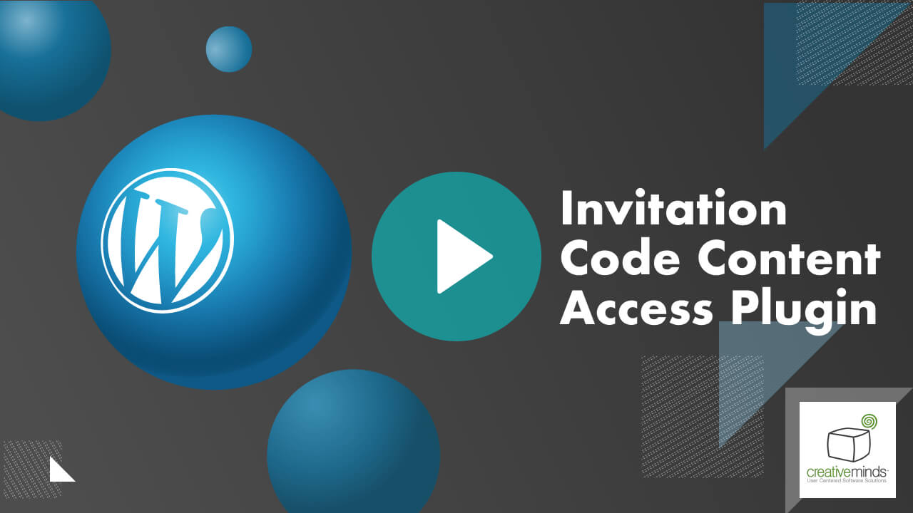 Invitation Code Content Access Plugin for WordPress video placeholder