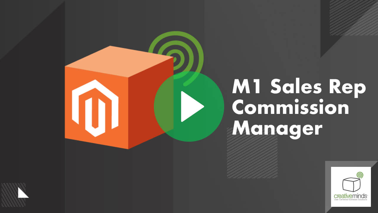 Sales Representative Commission Manager for Magento® 1 by CreativeMinds video placeholder