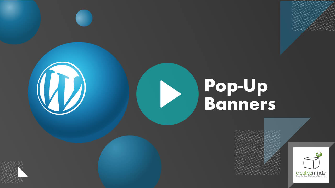 Pop-up Banners Plugin for WordPress by CreativeMinds video placeholder