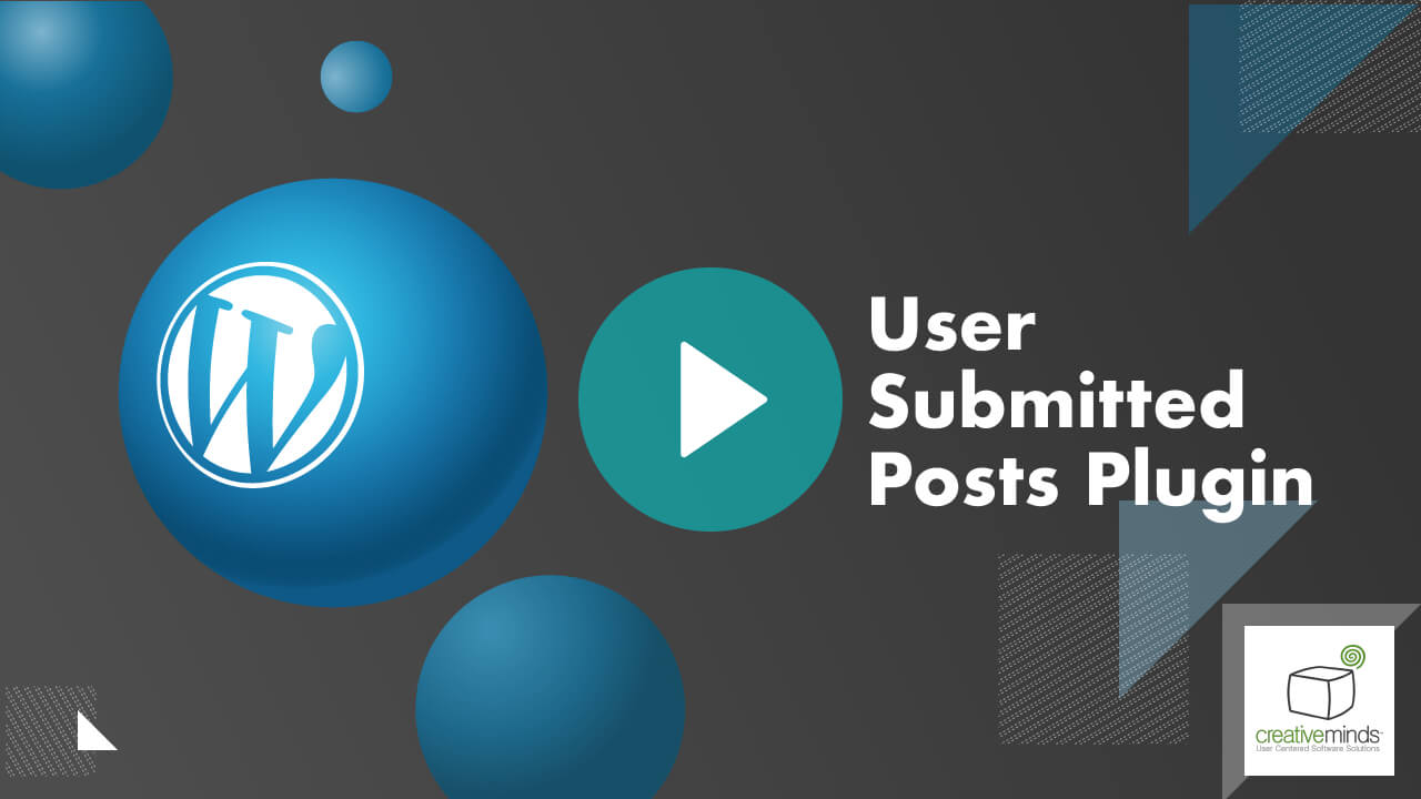 CM User Submitted Posts Plugin for WordPress video placeholder