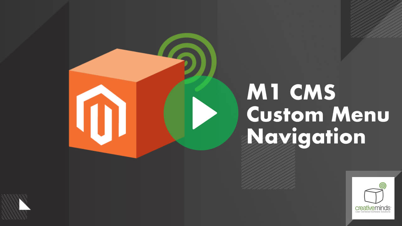 Custom Menu Extension for Magento® by CreativeMinds video placeholder