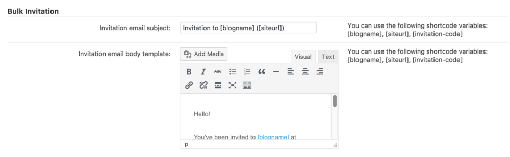 registration bulk email invitation add on for wordpress creativeminds
