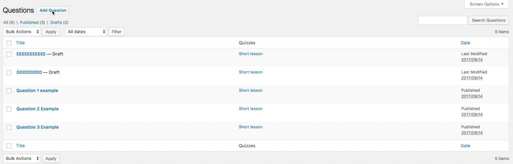Quiz Labels in Plugin Settings