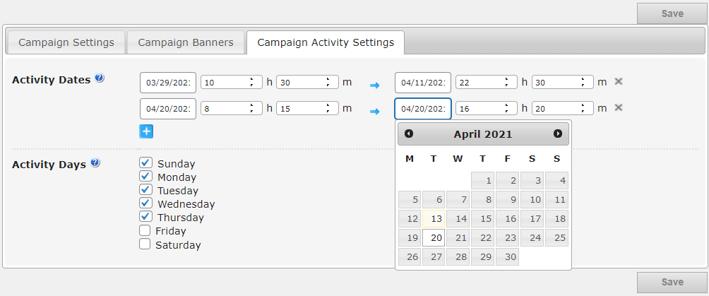 assigning scheduled ad campaigns for specific dates with cm ad changer plugin for wordpress