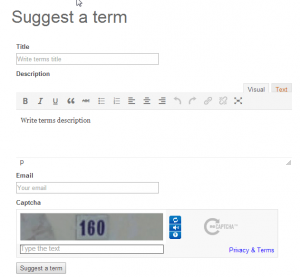 Term Suggestion Form