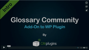 Easily allow your site visitors to Add Community Terms to your WordPress glossary
