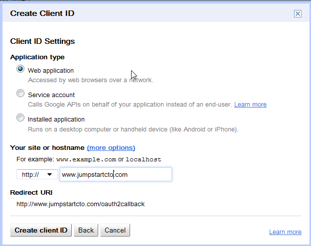 How to make a Google+ authentication app for your CM Answers plugin.
