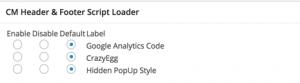 Header and Footer Script Loader MetaBox on Posts
