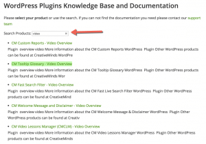 HelpScout WordPress plugin Search Results