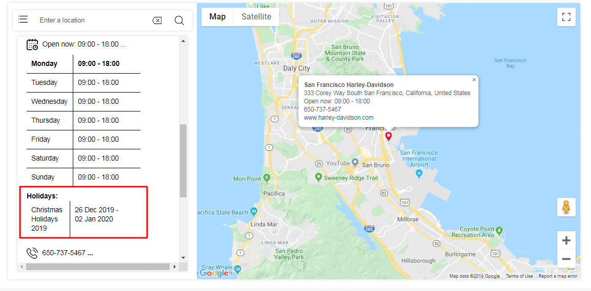 Holidays - Magento Store Locator Extension | Show Google Maps and Store Hours