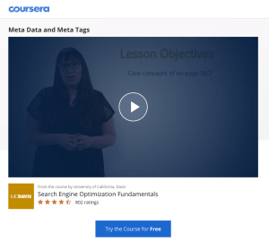 Coursera Meta Tags and Meta data Course - The Keyword Finding Master Plan (for WordPress) in 9 Videos