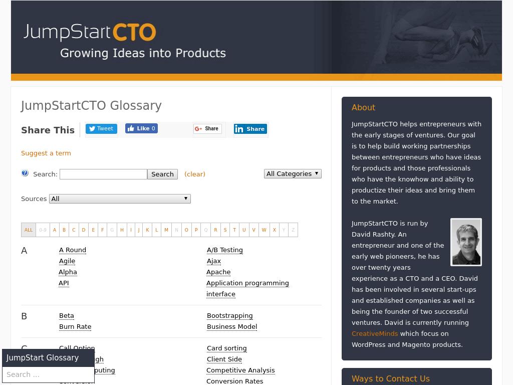 Jumpstart CTO Glossary