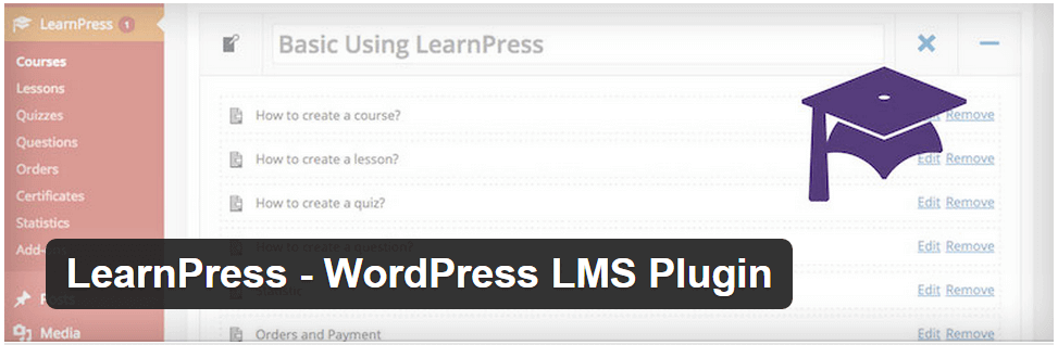 Learnpress - 10 WordPress Plugins for E-Learning in 2020