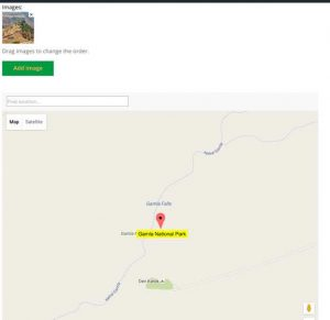 Editing Location Page - Setting Map and Images - WordPress Google Map Locations Plugin Screenshot