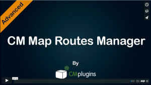 Map Routes Manager Plugin for WordPress