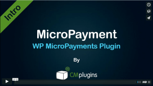 CM MicroPayments - Introduction to the WordPress Plugin