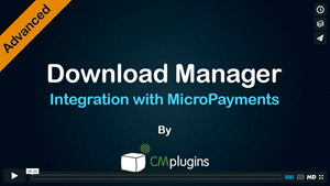CM Micropayment Platform Integration with CM Download Manager Tutorial
