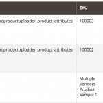 Product catalog example - Multiple Vendors Per Product Module