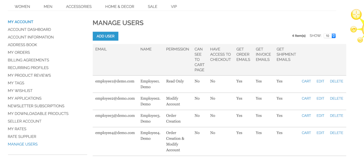 Magento® Multi User Account Image Gallery