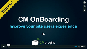 CM OnBoarding Guidance and Engagement Plugin for WordPress Tutorial