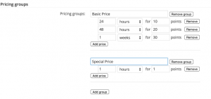 Pricing Groups and Pricing Tiers