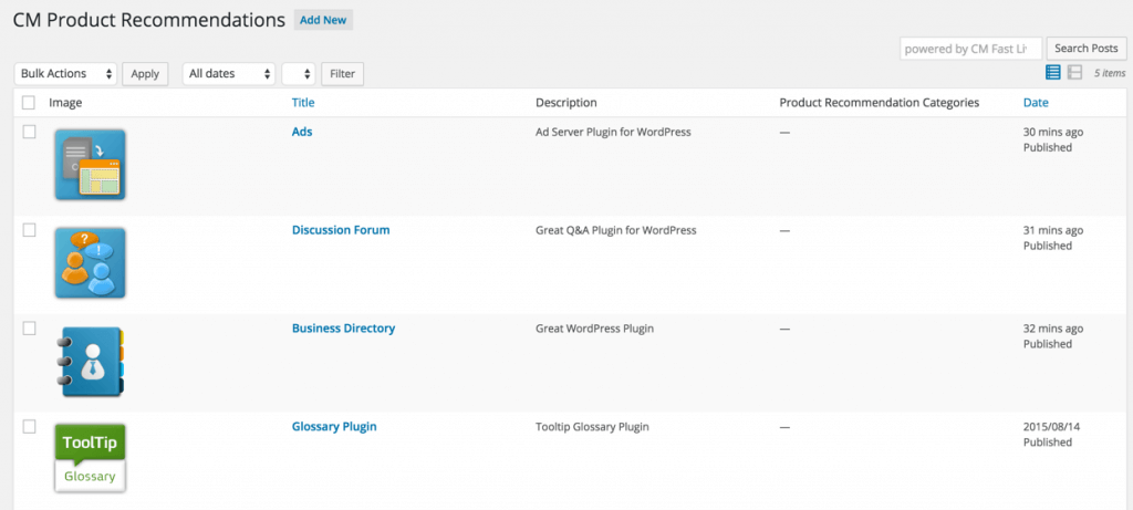 rec products list How to Use Product Recommendations on your WordPress Site