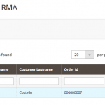 Admin management - Step 1 - RMA Requests Module