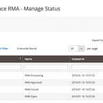 Admin managing statuses - RMA Requests Module